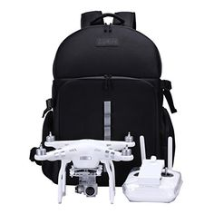 UPGRADED Water Resistant Backpack For DJI Phantom 4/ 3/ 2 Series/ Accessories Compatible| Professional Case/Travel Bag For Your Drone| Lykus Pro Video Equipment >>> Click on the image for additional details.