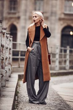 slouchy pants with structured vest