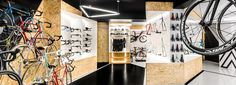 mode:lina designs multi-functional shop for VÈLO7 bicycle enthusiasts in poland