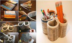 DIY Book Pencil Holder