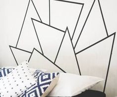 washi tape headboard - Google Search