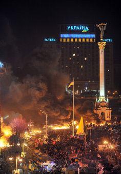 Independence Square. Kyiv. Ukraine. 18-2-2014