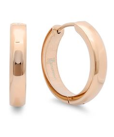 Take a look at this Rose Gold Chunky Hoop Earrings on zulily today!