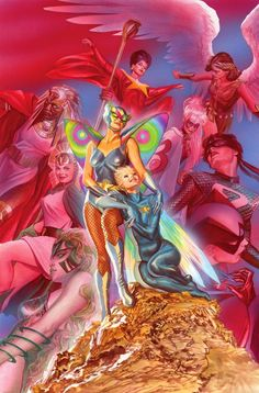 Alex Ross- Astro city 25 cover Original Comic Art - W.B.