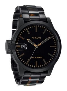 Nixon - Men  Loving this, he needs to learn to love analog watches !