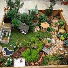 15 Breathtaking DIY Fairy Gardens - Raised Bed Fairy Garden Best Picture For small garden For Your Taste You are looking for somethin - Mini Fairy Garden, Fairy Garden Houses, Gnome Garden, Fairies Garden, Container Fairy Garden, Container Gardening, Building A Raised Garden, Raised Garden Beds, Raised Beds