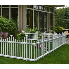 You'll love the Madison No Dig Vinyl Picket Garden Fence at Wayfair - Great Deals on all Outdoor  products with Free Shipping on most stuff, even the big stuff.