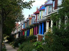 Color Obsession: Painted Houses