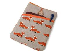 kindle voyage sleeve foxes fabric, Kobo Touch sleeve, Kobo Aura HD case, Kindle Oasis case, Kindle Paperwhite cover, Kobo Aura H2O Fox by DriSewing on Etsy