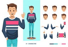 Find Man Character Design stock images in HD and millions of other royalty-free stock photos, illustrations and vectors in the Shutterstock collection. Character Flat Design, Character Design Sketches, Man Character, Character Design Animation, Character Illustration, Man Vector, Vector Design, Dress Anime, Comic Sketch