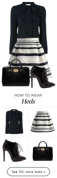 """Untitled #1115"" by swc0509 on Polyvore featuring MICHAEL Michael Kors, Chicwish and Mulberry"
