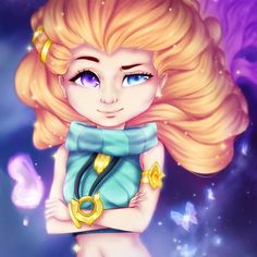 League of Legends Zoe by Vallentiny