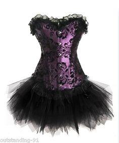 Fancy Corset Dress Moulin Rouge Burlesque TUTU Costume Ladies Lingerie 813+7008   eBay