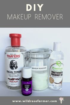 What I Made Wednesday - April Edition - WildRoseFarmer DIY Make up remover. All clean ingredients. Removes eye make up like a dream! Check out this homemade beauty recipe and more at www. Coconut Oil Makeup Remover, Diy Makeup Remover Wipes, Natural Makeup Remover, Eye Make-up Remover, Make Up Remover, Homemade Makeup Remover, Doterra, Homemade Beauty Recipes, Homemade Facials