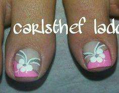 Toenail Art Designs, Pedicure Designs, Pedicure Nail Art, Toe Nail Designs, Toe Nail Art, Nail Nail, Purple And Pink Nails, Nail Polish Style, Feet Nails