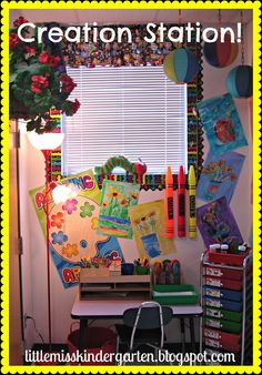Little Miss Kindergarten - Lessons from the Little Red Schoolhouse! One of my favorite places in my classroom!