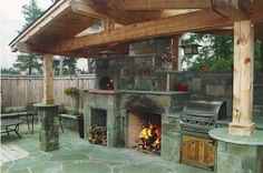 Outside fireplace and pizza oven similar appearance Pizza Oven Outside, Home Pizza Oven, Outside Fireplace, Balsamic Onions, Make Your Own Pizza, Outdoor Living, Outdoor Decor, Outdoor Ideas, Outdoor Oven
