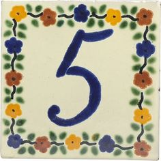 Mexican Tile Cuernavaca House Address Number Janet Place - Ceramic street numbers