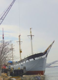 Some of our glulam beams were used to repair some masts on the Wavertree ship. Glulam by Unalam! Pretty Cool, Sailing Ships, Wind Turbine, Beams, Cool Stuff, Cool Things, Sailboat, Tall Ships