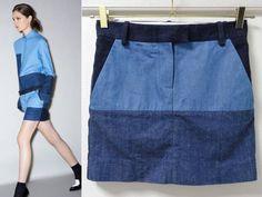 セリーヌ11awパッチワークデニムスカート34 Drawer えみり梨花13 patchwork denim mini skirt (fr 34) • céline37,900 円