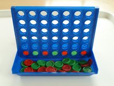Teaching Pattern Recognition with 4-In-A-Row Counters (From 3 years old)