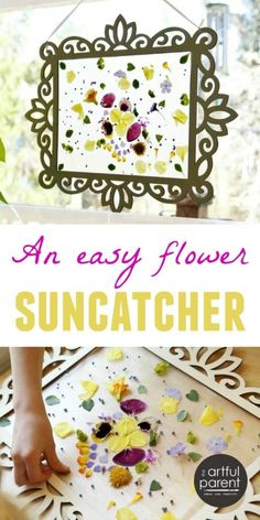 How to Make an Easy Flower Suncatcher in a Wood Frame