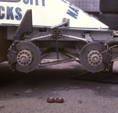 Rare picture of a Tyrrell-Ford P34B (four front wheel) Formula 1 car, 1977 Monaco Grand Prix.