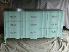 Dresser Mademoiselle Boudoir Dresser Vintage Poppy by poppycottage, $750.00