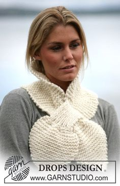 DROPS 98-5 - Modèles tricot gratuits de DROPS Design. Foulard TricotTricot  FemmeCouture TricotTricot Et CrochetManiquesBonnet EcharpePatrons ... 7a928884675