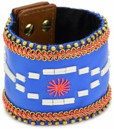 """Fiona Paxton """"MAYA BEACH"""" Faylin Blue Cuff Bracelet Fiona Paxton. $316.39. Made in Great Britain. Items that are handmade may vary in size, shape and color. The cuff has two studs on the closure for two size options. Sizes indicated are for the largest option"""