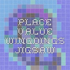 Place value Wingdings jigsaw
