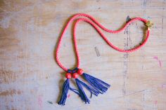 DIY bead & tassel necklace