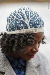 32dcc7f15319 This hat and mitten set that makes use of cables and stranded colorwork at  the same