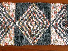 twined rug with taaniko design