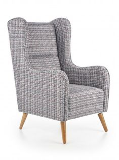 Fotel tapicerowany Chester, x x cm - wielokolorowy Outdoor Chairs, Outdoor Furniture, Outdoor Decor, Chesterfield, Luxor, Armchair, Living Room, Interior Design, Modern