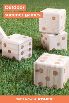 Have fun in the sun with outdoor games and activities for the whole family. Break out these giant lawn dice to make family game night more interesting! Shop giant lawn nice, backyard games and more at Kohl's and Kohls.com. #outdooractivities #lawngames Outdoor Yard Games, Backyard Games, Outdoor Fun, Lawn Games, Outdoor Projects, Cool Diy Projects, Activity Games, Activities, Outside Games