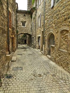 Medieval village of Cruas, Ardéche, France.