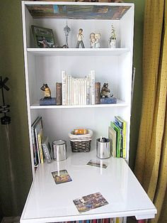 DIY desk from bookshelf
