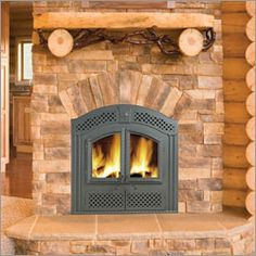 Log Cabin Home Interior With Warm Fireplace With Wood, Flames, A Stock Photo - Image of building, hotel: 479764 Fireplace Remodel, House Interior, Wood, Rustic Fireplace Mantels, Cabin Homes, Napoleon Fireplace, Fireplace, Log Cabin Interior, Log Cabin Homes