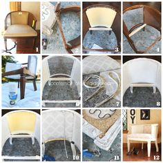 10 Bliss Cool Tricks: Upholstery Techniques Home Decor vintage upholstery tutorials.Upholstery Fabric Sofa upholstery tips thrift stores. Upholstery Repair, Furniture Upholstery, Upholstered Chairs, Upholstery Tacks, Upholstery Cushions, Upholstery Cleaning, Furniture Refinishing, Chair Makeover, Furniture Makeover