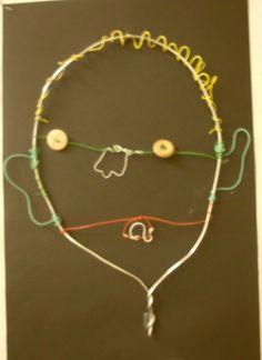 Third Grade Wire Self Portrait https://sites.google.com/a/fpsct.org/noah-wallace-art-room/