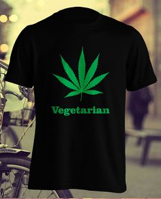 Vegetarian Weed Tshirt Cannabis T shirt Marijuana by ElephanTees
