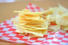 Oil-Free Microwave Potato Chips via @fifteenspatulas