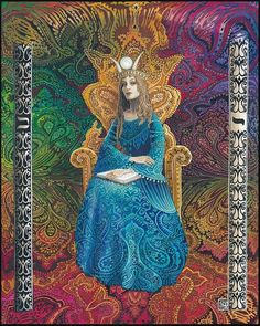 The High Priestess 16x20 Poster Print Tarot Card Psychedelic