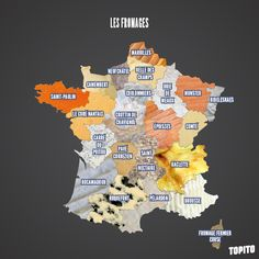 Top 13 des cartes de France vue autrement, c'est vrai que ça change Plan France, France Map, French Teacher, Teaching French, Saint Paulin, France Geography, French Classroom, French Lessons, Learn French