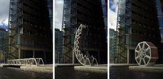 Civil engineering at its fanciest -  Rolling Bridge by Heatherwick Studio