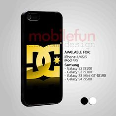 9243e55c16b DC Shoes Logo Gold Design-iPhone 4 4s 5 Samsung Galaxy S2 S3 S4