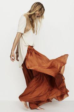 Nanushka spring 2013 | HonestlyWTF #fashion #skirt #movement