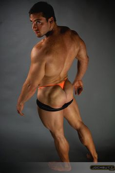 Francisco Soriano in tiny orange panties 2