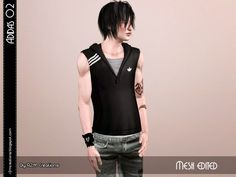 Sport sleeveless hoodie shirt by ReMaron - Sims 3 Downloads CC Caboodle
